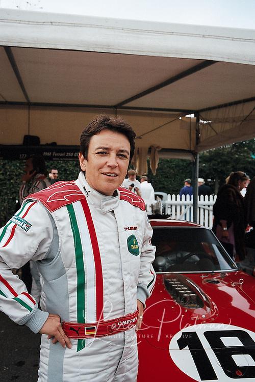 Goodwood Revival 2009 general scenes, drivers and characters Claudia Hurtgen driving the Ferrari Breadvan at Goodwood Revival 2009