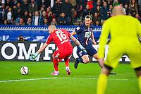 But Zlatan IBRAHIMOVIC / Stephane RUFFIER - 08.04.2015 - Paris Saint Germain / Saint Etienne - 1/2Finale Coupe de France<br />Photo : WinterPress / Icon Sport