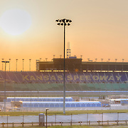 Kansas Speedway racetrack in Kansas City, KS panorama photo