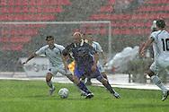 23.07.2005, Ratina, Tampere, Finland..UEFA Intertoto Cup, 3rd round, 2nd leg match.Tampere United v S.S. Lazio.Ville Lehtinen (TamU) v Fabio Firmani (Lazio).©Juha Tamminen.....ARK:k