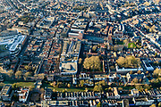 Nederland, Zuid-Holland, Dordrecht, 07-02-2018; historische binnenstad met Dordrechts Museum en Spui (Spuihaven)<br /> Inner city Dordrecht.<br /> luchtfoto (toeslag op standard tarieven);<br /> aerial photo (additional fee required);<br /> copyright foto/photo Siebe Swart