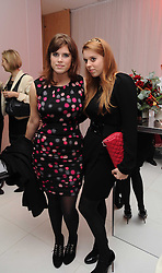 Left to right, PRINCESS EUGENIE OF YORK and PRINCESS BEATRICE OF YORK at the launch of the English National Ballet's Christmas season 2009 held at the St.Martin;s Lane Hotel, London on 15th December 2009.