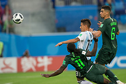 June 26, 2018 - Moscow, RUSSIA - Saint Petersburg, RUSSIA - Tuesday, June 26, 2018: Argentina beat Nigeria 2-1 at Saint Petersburg Stadium in the western portion of Krestovsky Island in Saint Petersburg. (Credit Image: © Celso Bayo/ISIPhotos via ZUMA Wire)