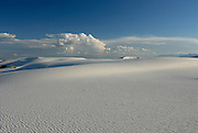 rippled gypsum, sand dunes in the White Sands National Monument, New Mexico, USA