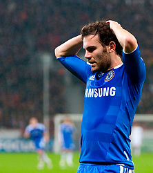 23.11.2011, BayArena, Leverkusen, Germany, UEFA CL, Gruppe E, Bayer 04 Leverkusen (GER) vs Chelsea FC (ENG), im Bild Chelsea's Juan Mata rues a missed chance against Bayer Leverkusen during the football match of UEFA Champions league, group E, between Bayer Leverkusen (GER) and FC Chelsea (ENG) at BayArena, Leverkusen, Germany on 2011/11/23. EXPA Pictures © 2011, PhotoCredit: EXPA/ Sportida/ David Tickle..***** ATTENTION - OUT OF ENG, GBR, UK *****