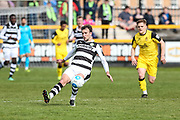 Forest Green Rovers Christian Doidge(9) passes the ball forward during the Vanarama National League match between Southport and Forest Green Rovers at the Merseyrail Community Stadium, Southport, United Kingdom on 17 April 2017. Photo by Shane Healey.