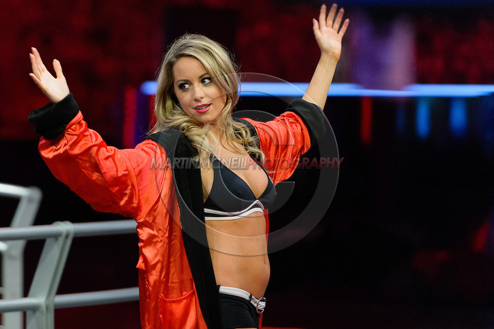 """LONDON, ENGLAND, March 4, 2014: Carly Baker is pictured ahead of the broadcast of BT Sport's """"Beyond the Octagon"""" programme on Tuesday, March 4, 2014 © Martin McNeil for IPC Media"""