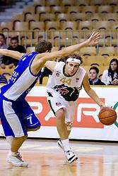 Tadej Horvat vs Matt Walsh of Olimpija at Superpokal basketball match between KK Union Olimpija and Elektra Esotech, on September 27, 2009, in Arena Tivoli, Ljubljana, Slovenia. Olimpija won 95:62.  (Photo by Vid Ponikvar / Sportida)