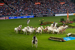 Opening ceremony, Camargue Horses<br /> CHIO Aachen 2019<br /> Weltfest des Pferdesports<br /> © Hippo Foto - Dirk Caremans<br /> Opening ceremony, Camargue Horses