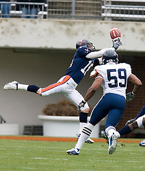 Virginia Cavaliers  WR Simon Manka (18) reaches for a pass. The University of Virginia Football Team played their Spring game at Scott Stadium in Charlottesville, VA on April 14, 2007.