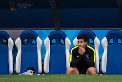June 17, 2018 - Nizhny Novgorod, RUSSIA - 180617 Heungmin Son of the South Korean national football team at a practice session during the FIFA World Cup on June 17, 2018 in Nizhny Novgorod..Photo: Joel Marklund / BILDBYRN / kod JM / 87714 (Credit Image: © Joel Marklund/Bildbyran via ZUMA Press)