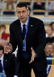 Head coach of Trentino Radostin Stoytchev at 2nd Semifinal match of CEV Indesit Champions League FINAL FOUR tournament between ACH Volley, Bled, SLO and Trentino BetClic Volley, ITA, on May 1, 2010, at Arena Atlas, Lodz, Poland. Trentino defeated ACH 3-1. (Photo by Vid Ponikvar / Sportida)