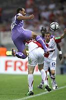 FOOTBALL - FRENCH CHAMPIONSHIP 2010/2011 - L1 - TOULOUSE FC v STADE BRESTOIS - 07/08/2010 - PHOTO ERIC BRETAGNON / DPPI - DANIEL BRAATEN (TFC)