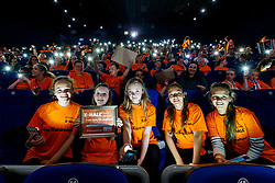 Repro Free: 06/07/2017 Pictured at the Irish Cancer Society's X-HALE Youth Awards in the Odeon Cinema Point Village were Paula Karpa, Cara SmithCaoimhe Monaghan, Eliza Amolina, Natalija Oseniece, from Bounce Back Youth Services Cavan. Over 300 young people from 40 youth and community groups showcased a huge range of short films based on anti-tobacco messages. Picture Andres Poveda