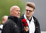 FODBOLD: Cheftræner Erik Rasmussen (Vendsyssel FF) interview med Tv3 Sport under kampen i NordicBet Ligaen mellem FC Helsingør og Vendsyssel FF den 14. maj 2017 på Helsingør Stadion. Foto: Claus Birch