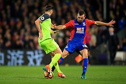 James McArthur of Crystal Palace tackles Adam Lallana of Liverpool - Mandatory by-line: Jason Brown/JMP - 29/10/2016 - FOOTBALL - Selhurst Park - London, England - Crystal Palace v Liverpool - Premier League
