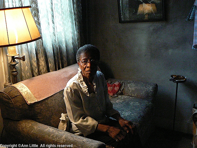Elderly woman in her home in Montgomery, Alabama.