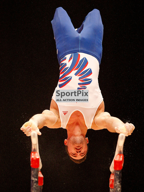 2015 Artistic Gymnastics World Championships being held in Glasgow from 23rd October to 1st November 2015.....Jim Zona (France) competing in the Parallel Bars competition..(c) STEPHEN LAWSON | SportPix.org.uk