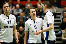 20170125 NED: Beker, Sliedrecht Sport - Seesing Personeel Orion: Sliedrecht<br />Tom Feldkamp (11), Yorick de Groot (5) of Sliedrecht Sport <br />&copy;2017-FotoHoogendoorn.nl / Pim Waslander