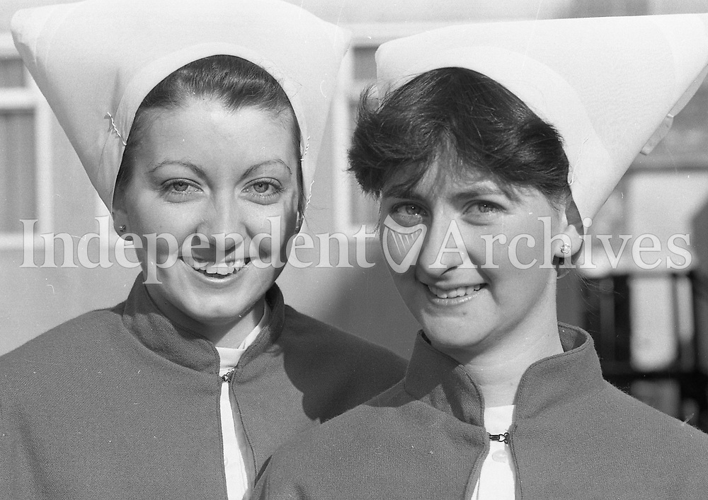 Two nurses on their graduation in February 1986, location unknown.<br />