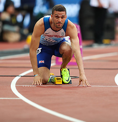 London, 2017 August 07. Daniel Talbot, Great Britain, in the men's 200m heats on day four of the IAAF London 2017 world Championships at the London Stadium. © Paul Davey.