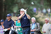 Jeff Sluman tees off on the 14th hole during The Senior Open Championship, Sunningdale Golf Club, Sunningdale, United Kingdom on 23 July 2015. Photo by Phil Duncan.