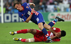 Ivica Olic of Croatia and Gokhan Zan of Turkey during the UEFA EURO 2008 Quarter-Final soccer match between Croatia and Turkey at Ernst-Happel Stadium, on June 20,2008, in Wien, Austria.  (Photo by Vid Ponikvar / Sportal Images)