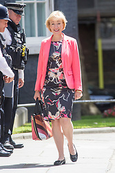 © Licensed to London News Pictures. 12/06/2017. London UK. Andrea Leadsom arrives in Downing Street ahead of Theresa May's first Cabinet meeting since the General Election this afternoon. Photo credit: Andrew McCaren/LNP