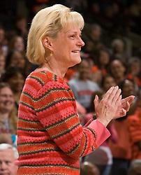 Virginia head coach Debbie Ryan.  The #21 ranked Virginia Cavaliers defeated the Boston College Eagles 90-70 at the John Paul Jones Arena in Charlottesville, VA on February 22, 2009.