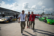 November 19-22, 2015: Lamborghini Super Trofeo at Sebring Intl Raceway. Maurizio Reggiani, head of Lamborghini R&D and Stephan Winkelmann, CEO of Lamborghini