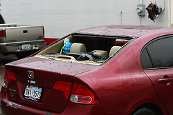 59536283  .The photo taken on April 18, 2013 shows a window-broken vehicle near the site of an explosion at the West Fertilizer Co. in West, Texas, the United States. A massive explosion at a Texas fertilizer plant killed as many as 15 and injured more than 160 others, authorities said. The explosion occurred at about 8 p.m. local time on April 17, 2013,  Friday 19, April. Photo by: i-Images.UK ONLY