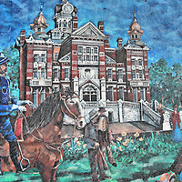 Civic Awards Mural in Winnipeg, Canada <br />