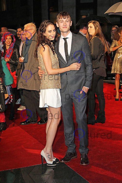LONDON - OCTOBER 11: Kaya Scodelario; Elliott Tittensor attended the screening of 'Spike Island' at the Odeon West End, Leicester Square, London, UK. October 11, 2012. (Photo by Richard Goldschmidt)
