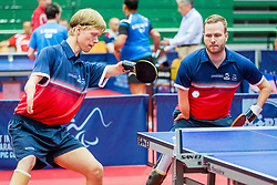 (Team DEN) ROSENMEIER Peter and HANSEN Rasmus Damkjeer in action during 15th Slovenia Open - Thermana Lasko 2018 Table Tennis for the Disabled, on May 11, 2018 in Dvorana Tri Lilije, Lasko, Slovenia. Photo by Ziga Zupan / Sportida