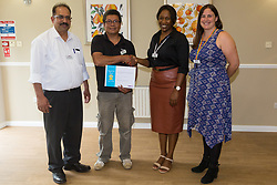 Care UK's Franklin House care home in West Drayton, London, has been awarded a Two Years Pressure Prevention Award from North West London NHS Foundation, in collaboration with Hillingdon TVN Team and Hillingdon CCG. Maintenance Man Rogelio Baluyot receives his award for 10 years' service. London, July 11 2019.