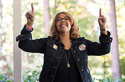 November 03, 2018 - Marietta, Georgia, U.S. -  LUCY MCBATH, Democratic candidate for Georgia's 6th congressional district, addresses supporters at a canvass kickoff event.(Credit Image: © Brian Cahn/ZUMA Wire)