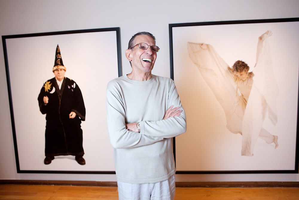 Actor and photographer Leonard Nimoy is pictured at MASS MoCA in North Adams, Mass., where his photography exhibit 'Secret Selves' was shown. Client: The New York Times