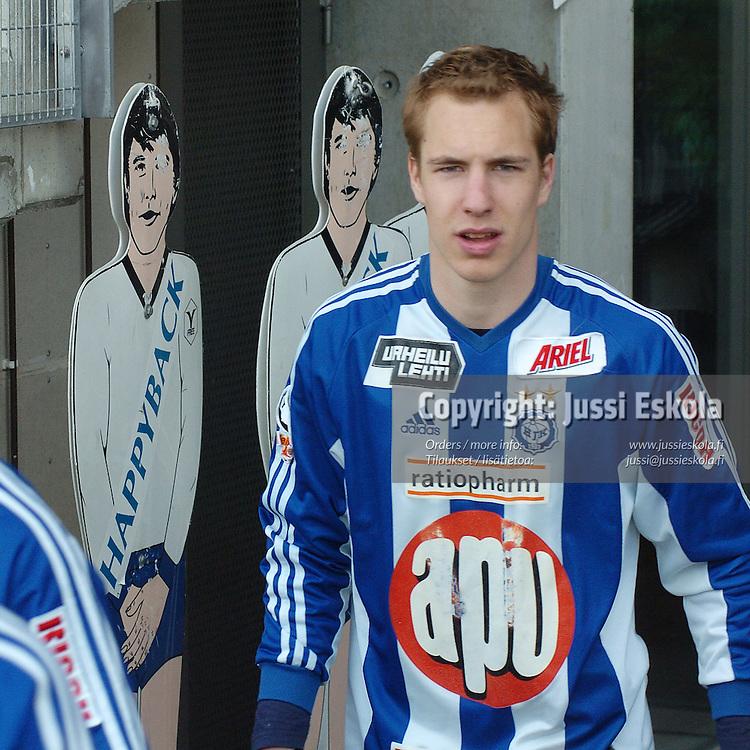Vili Savolainen, HJK.&amp;#xA;2005.&amp;#xA;Veikkausliiga.&amp;#xA;Photo: Jussi Eskola<br />