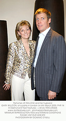 Perfumer JO MALONE and her husband GARY WILLCOX, at a party in London on 6th March 2003.	PHR 14