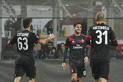 November 23, 2017 - Milan, Italy - André Silva of AC Milan celebrate the fourth goal for AC Milan during uefa Europa League AC Milan vs FK Austria Wien at San Siro Stadium (Credit Image: © Gaetano Piazzolla/Pacific Press via ZUMA Wire)