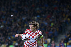 October 9, 2017 - Kiev, Ukraine - Croatia's Luka Modric controls the ball during the World Cup Group I qualifying soccer match between Ukraine and Croatia at the Olympic Stadium in Kiev. Ukraine, Monday, October 9, 2017  (Credit Image: © Danil Shamkin/NurPhoto via ZUMA Press)