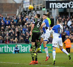 Ryan Sweeney of Bristol Rovers gets a header away - Mandatory by-line: Neil Brookman/JMP - 23/12/2017 - FOOTBALL - Memorial Stadium - Bristol, England - Bristol Rovers v Doncaster Rovers - Sky Bet League One