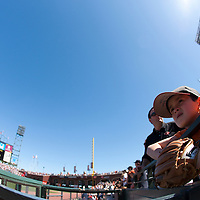 18 April 2009: A young fan is seen prior to the San Francisco Giants' 2-0 loss to the Arizona Diamondbacks at AT&T Park in San Francisco, CA.