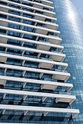 New modern highrise building on 1 Rothschild  boulevard, Tel Aviv, Israel