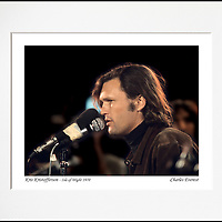 Kris Kristofferson - An affordable archival quality matted print ready for framing at home.<br />