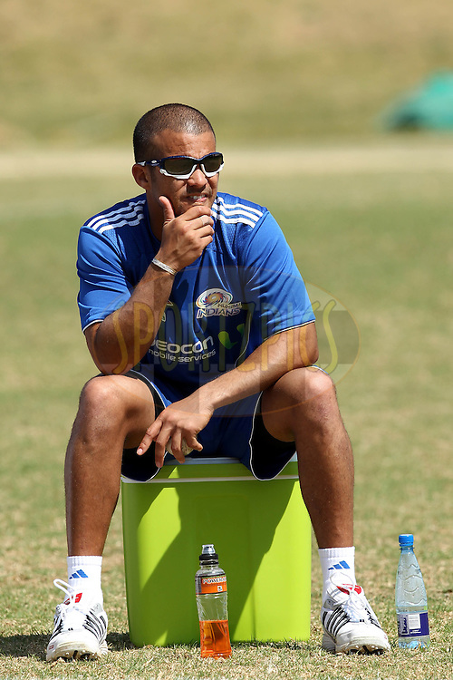 JP Duminy during the Mumbai Indians training ( nets ) session held at The Wanderers Stadium in Johannesburg on the 6th September 2010 held as part of the build up to the Champions League T20 tournament being held in South Africa between the 10th and 26th September 2010..Photo by: Ron Gaunt/SPORTZPICS/CLT20
