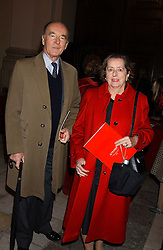 JOSEPH CZERNIN and his wife LADY HOWARD DE WALDEN at Carols from Chelsea in aid of the Institute of Cancer Research at the Royal Hospital Chapel, Chelsea, London on 1st December 2005.<br /><br />NON EXCLUSIVE - WORLD RIGHTS