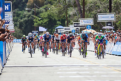 The final sprint at Amgen Tour of California Women's Race empowered with SRAM 2019 - Stage 3, a 126 km road race from Santa Clarita to Pasedena, United States on May 18, 2019. Photo by Sean Robinson/velofocus.com