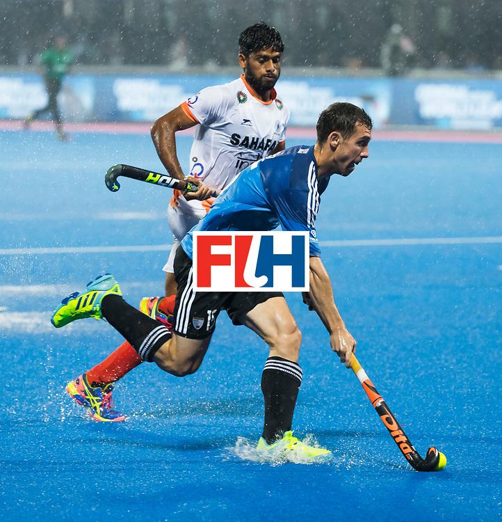 BHUBANESWAR -  Hockey World League finals , Semi Final . Argentina v India. Diego Paz (Arg)  COPYRIGHT KOEN SUYK