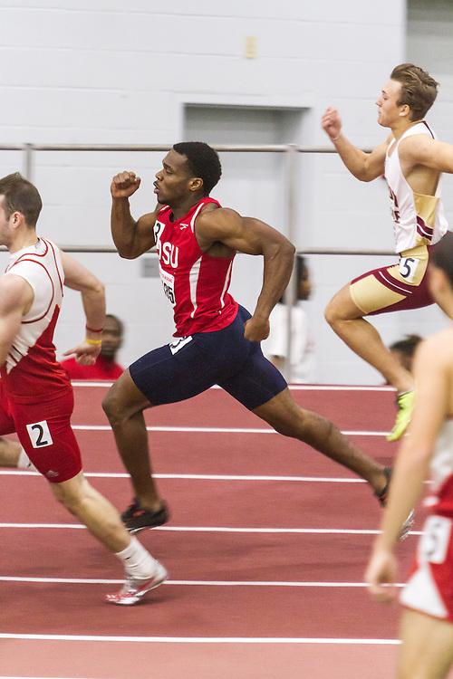 Boston University Multi-team indoor track & field, men 200 meter, heat 2, Delaware State